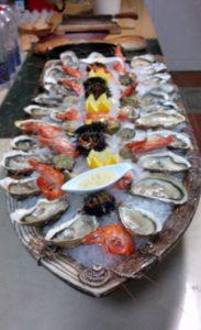 plateau de fruits de mer restaurant de fruits de mer en Camargue